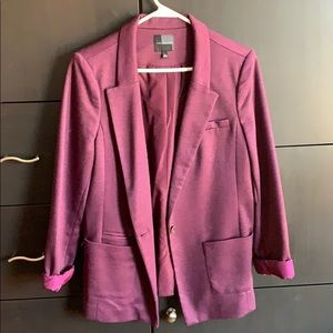 The Limited Jackets & Coats - Plum Boyfriend Blazer